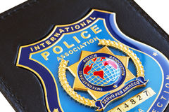 Police badge. Badge of the International Police Association royalty free stock photos