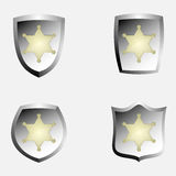 Police badge emblems Stock Images