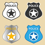 Police badge Royalty Free Stock Image