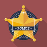 Police badge icon Stock Photo