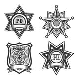 Police Badge Set Stock Photos