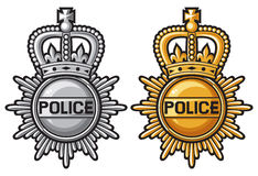 Police badge. Police sign, police coat of arms Stock Photo
