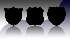 Police badges Stock Photography