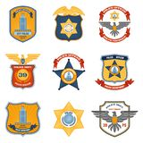 Police Badges Colored Stock Image