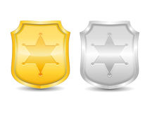Police Badges Royalty Free Stock Images