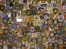 Police badges and patches. A variety of law enforcement and fire department badges and patches Royalty Free Stock Images