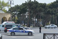 Police in Baku Royalty Free Stock Photography