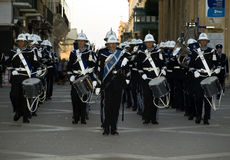 Police Band Parade Stock Photo