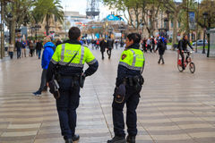 Police in Barcelona Stock Photography
