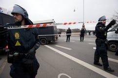 Police Barricade Stock Photography