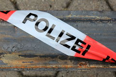 Police Barricade Tape Stock Images