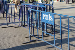 Police barriers Royalty Free Stock Photos