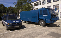 Police base in Poznan Stock Images
