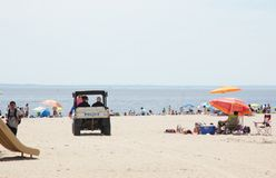 New York beach police Royalty Free Stock Photography