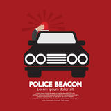 Police Beacon At Car's Roof Stock Image