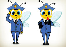 Police Bee Royalty Free Stock Photography