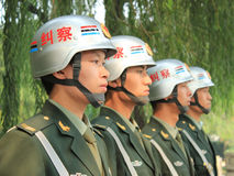 Police in Beijing Royalty Free Stock Images