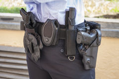 Police belt Stock Images