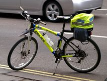 Police bicycle Stock Photography