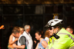 Police Bicycle Helmet Royalty Free Stock Image