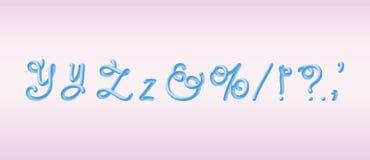 police bleue arrondie par 3D Alphabet de tube bulle composée illustration de vecteur de typographie illustration libre de droits