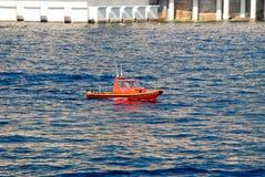 Police boat off the coast of Monaco Stock Photography
