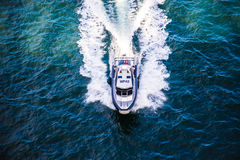 Police boat on patrol in harbour Royalty Free Stock Photo
