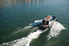 Police boat on the Rhine Basel in switzerland Stock Photography