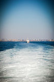 Police boat on the sea Stock Photos