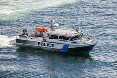Police Boat Security Royalty Free Stock Image