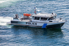Police Boat Security Stock Images