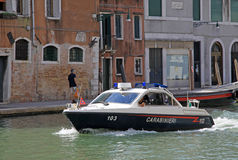 Police boat in Venice Royalty Free Stock Images