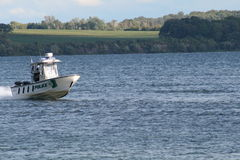 Police Boat on Water Royalty Free Stock Photo