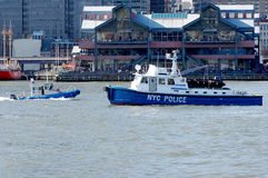 Police Boats Stock Photography