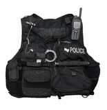 Police body armor Royalty Free Stock Photo