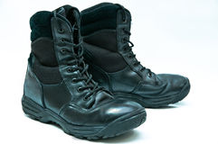Police Boots Royalty Free Stock Image
