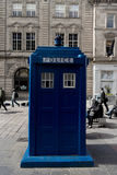 Police Box in Glasgow.  Tardis, Dr Who. Stock Photography