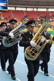 Police brass band Stock Images