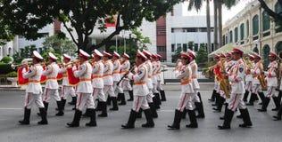 Police brass orchestra in Hanoi Stock Photos
