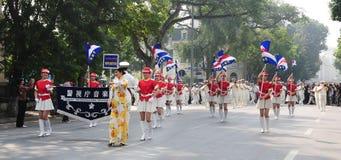 Police brass orchestra in Hanoi Stock Photo