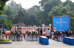 Police brass orchestra in Hanoi Stock Photography