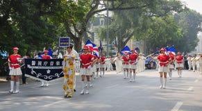 Police brass orchestra in Hanoi Stock Image