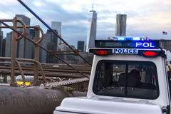 Police on the bridge Royalty Free Stock Photography