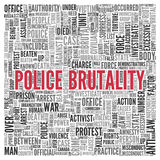 POLICE BRUTALITY Concept Word Tag Cloud Design Stock Photos