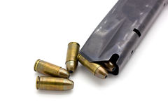 Police Bullets 9mm magazine Stock Photography