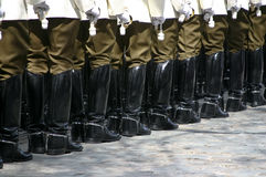 Police cadets marching Royalty Free Stock Photography