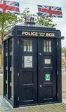 Police call box in England Royalty Free Stock Photo