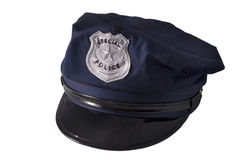 Police cap. A police cap, isolated on white Royalty Free Stock Photos