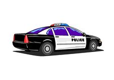 Police Car. Illustration of an american police car Royalty Free Stock Photos