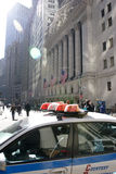 Police car. Sitting on wall street Royalty Free Stock Photos